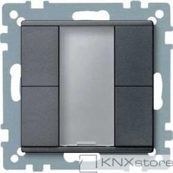 Schneider Electric Merten KNX - System M - tlač. panel 2-násobný plus - antracit