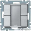 Schneider Electric Merten KNX - System M - tlač. panel 2-násobný plus - aluminium