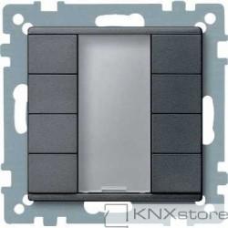 Schneider Electric Merten KNX - System M - tlač. panel 4-násobný plus - antracit