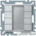 Schneider Electric Merten KNX - System M - tlač. panel 4-násobný plus - aluminium