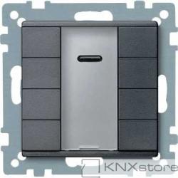 Schneider Electric Merten KNX - System M - tlač. panel 4-násobný plus + IČ přijímač - antracit