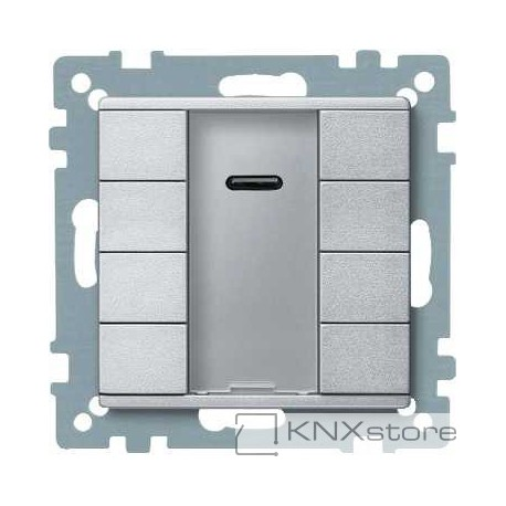 Schneider Electric Merten KNX - System M - tlač. panel 4-násobný plus + IČ přijímač - aluminium