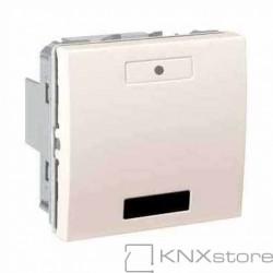 Schneider Electric KNX Unica multifunkční tlačítko 1-nás. s IČ přijímačem, ivory