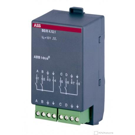 BE/M4.12.1 Modul binárního vstupu, 4-násobný, vnitřní napětí