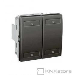 KNX Unica TOP multifunkční tlačítko 2-nás., grafit