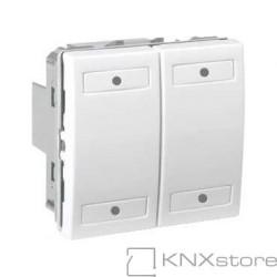 KNX Unica multifunkční tlačítko 2-nás., polar