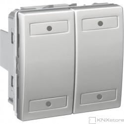 KNX Unica TOP multifunkční tlačítko 2-nás., aluminium