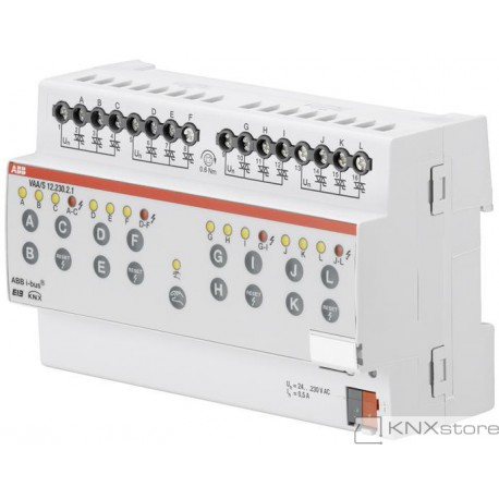 ABB KNX Řadový akční člen pohonu hlavic ventilů, 12násobný, 230 V AC