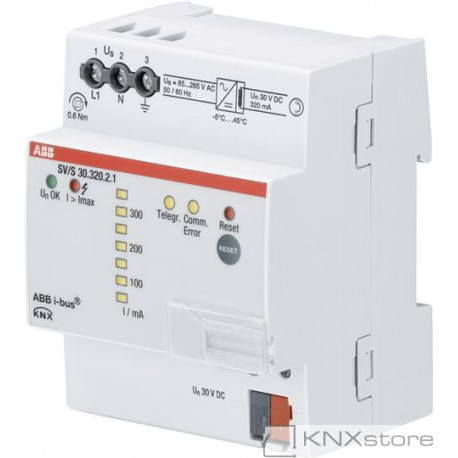 ABB KNX Řadový napájecí zdroj s diagnostikou, 320 mA