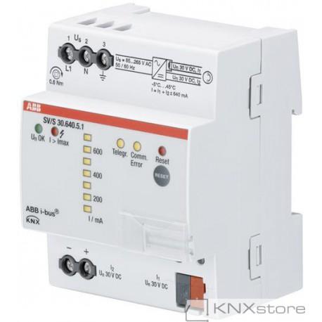 ABB KNX Řadový napájecí zdroj s diagnostikou, 640mA
