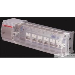 ABB KNX Řadový akční člen pohonu hlavic ventilů, 6násobný, 230/24 V AC