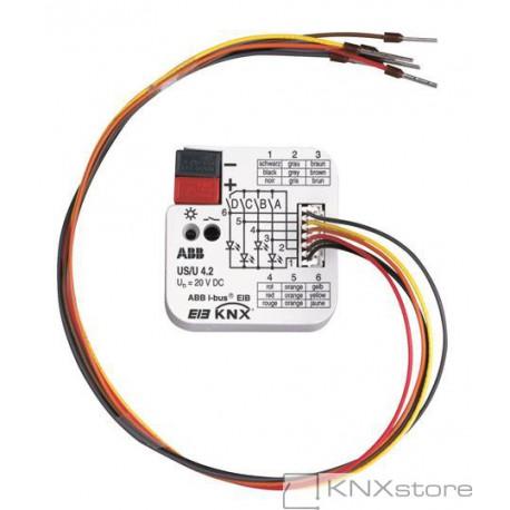 ABB KNX 4násobné univerzální rozhraní pro zapuštěnou montáž