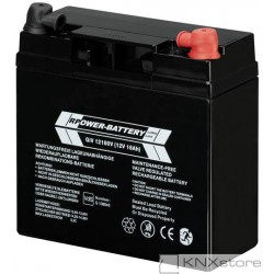 ABB Uzavřená olověná baterie,12VDC, 17Ah