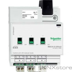KNX řídicí jednotka 0-10V/1-10V REG-K/3-násobná+manuální režim