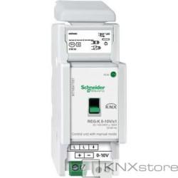 KNX řídicí jednotka 0-10V/1-10V REG-K/1-násobná+manuální režim