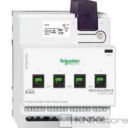 KNX spínací akční člen REG-K/4x230/16+manuální režim