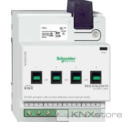 KNX spínací akční člen REG-K/4x230/16+manuální režim+detekce proudu