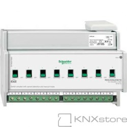 KNX spínací akční člen REG-K/8x230/16+manuální režim+detekce proudu