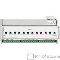 KNX spínací akční člen REG-K/12x230/16+manuální režim+detekce proudu