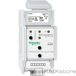 KNX spínací akční člen REG-K/2x230/10+manuální režim