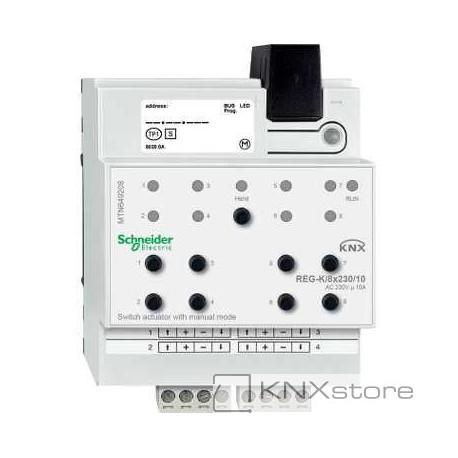 KNX spínací akční člen REG-K/8x230/10+manuální režim