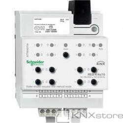 KNX roletový akční člen REG-K/4x/10+manuální režim