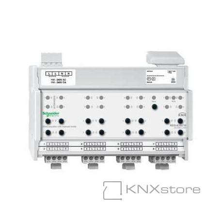 KNX žaluziový akční člen REG-K/8x/10+manuální režim