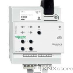 KNX žaluziový akční člen REG-K/2x/10+manuální režim