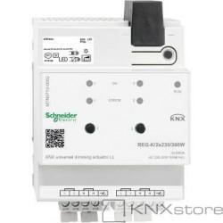 KNX univerzální stmívací akční člen LL REG-K/2x230/300W