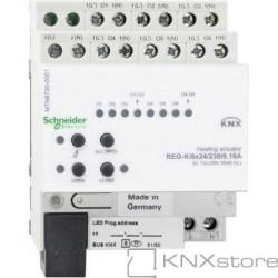 KNX akční člen topení REG-K/6x24/230/0,16A