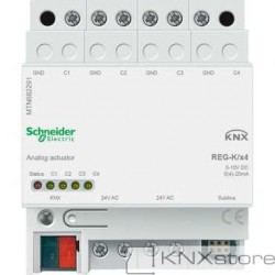 KNX analogový akční člen REG-K/4-násobný