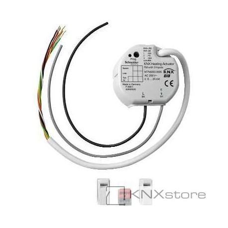 KNX akční člen pro vytápění pro zap. mon., s 3 BI