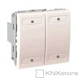 KNX Unica multifunkční tlačítko 2-nás., ivory