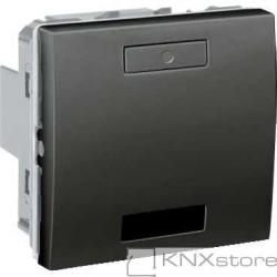 KNX Unica TOP multifunkční tlačítko 1-nás. s IČ přijímačem, grafit