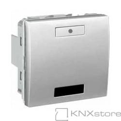 KNX Unica TOP multifunkční tlačítko 1-nás. s IČ přijímačem, aluminium