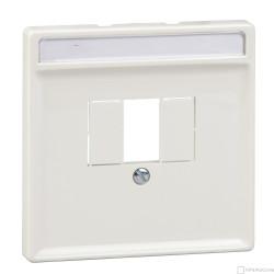 Centrální kryt se čtvercovým otvorem pro KNX USB rozhraní zap., System Design, Polar