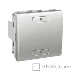 KNX Unica TOP multifunkční tlačítko 1-nás., aluminium