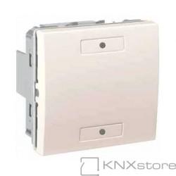 KNX Unica multifunkční tlačítko 1-nás., ivory