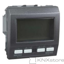 KNX Unica TOP regulátor teploty místnosti s displejem, grafit