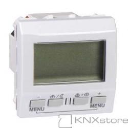 Schneider Electric KNX Unica regulátor teploty místnosti s displejem, polar