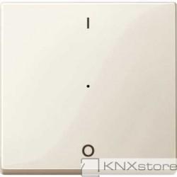 Schneider Electric Merten KNX - System M - kryt pro 1-násobný tlač. modul - 1/0 - white cream
