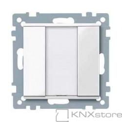 Schneider Electric Merten KNX - System M - tlač. panel 1-násobný plus - polar wh.