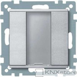 Schneider Electric Merten KNX - System M - tlač. panel 1-násobný plus - aluminium