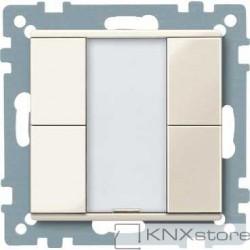 Schneider Electric Merten KNX - System M - tlač. panel 2-násobný plus - white cream