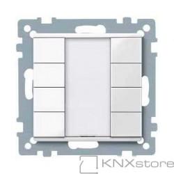 Schneider Electric Merten KNX - System M - tlač. panel 4-násobný plus - polar wh.