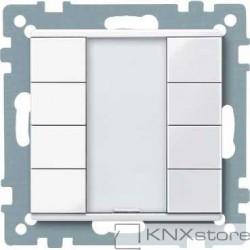 Schneider Electric Merten KNX - System M - tlač. panel 4-násobný plus - active wh.
