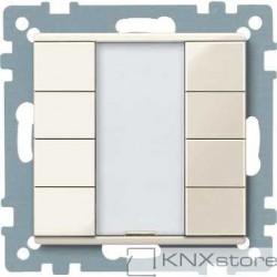 Schneider Electric Merten KNX - System M - tlač. panel 4-násobný plus - white cream