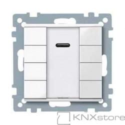 Schneider Electric Merten KNX - System M - tlač. panel 4-násobný plus + IČ přijímač - polar wh.