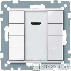 Schneider Electric Merten KNX - System M - tlač. panel 4-násobný plus + IČ přijímač - active wh.