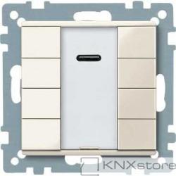 Schneider Electric Merten KNX - System M - tlač. panel 4-násobný plus + IČ přijímač - white cream